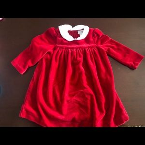 Velvet red baby dress Ralph Lauren